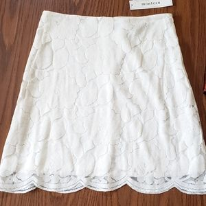 Monteau Women's Lace Skirt